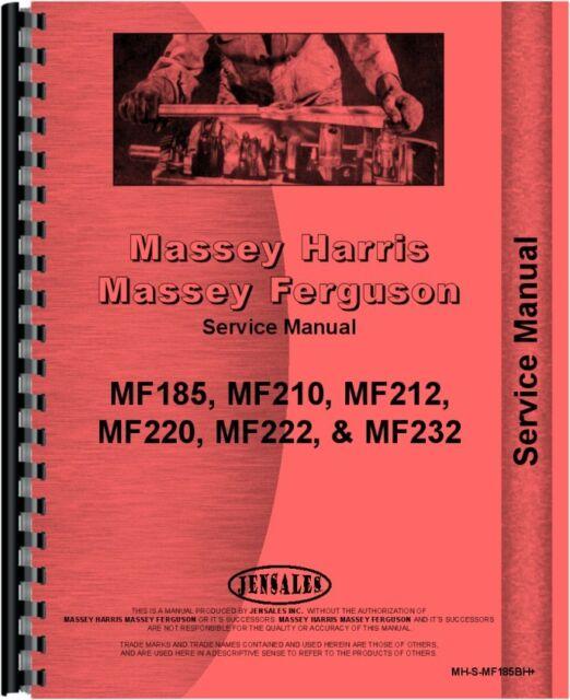 massey ferguson 185 210 220 222 232 backhoe attachment service rh ebay com Massey Ferguson 265 Massey Ferguson 125
