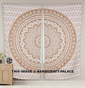 Image Is Loading Indian Ombre Mandala Curtains Window Hanging Tapestry Wall