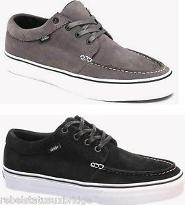 d1f6a9ebeb VANS Shoes 106 Moc Suede Trainers Skate Shoe Black   Grey All Sizes ...