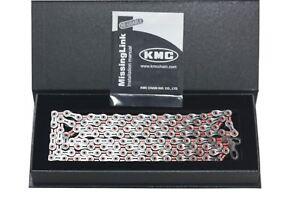 KMC X10SL DLC Road Bike Chain 10 Spd 116 Link Red Shimano SRAM New in Retail Box