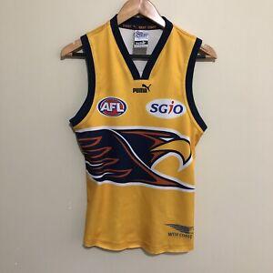 West-Coast-Eagles-2007-Puma-AFL-Yellow-Training-Jumper-Guernsey-Mens-Small