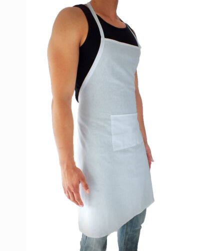 Grembiule da cucina Bavaglino grembiule con tasche 100/% Cotone Ristorante BBQ
