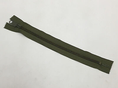 US Military Zipper YKK #9 CEDAR GREEN MILSPEC 14 INCH LENGTH 2 INCH WIDTH