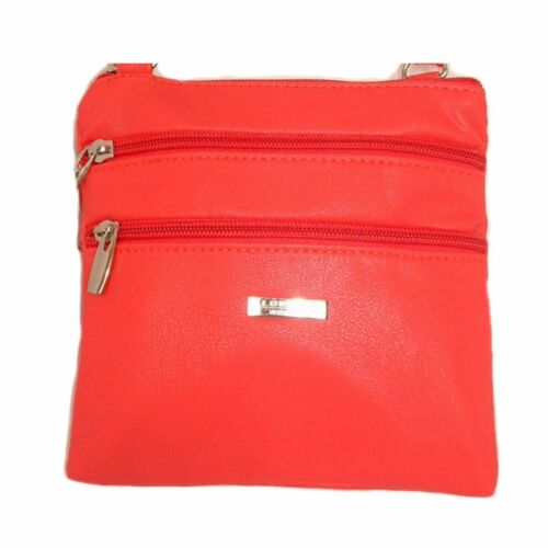 Various Colours Lorenz SMALL PU Leather Twin Section Purse Cross Body Bag