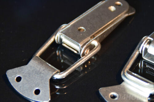 4x Edelstahl Spannverschluss 112mm Kistenverschluss Kisten//Box-Hebel-Verschluss