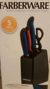 Farberware Knife set 5 piece prep set