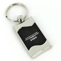 Chrysler 300c Black Spun Brushed Metal Key Ring