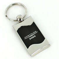 Chrysler 300c Black Spun Brushed Metal Key Ring