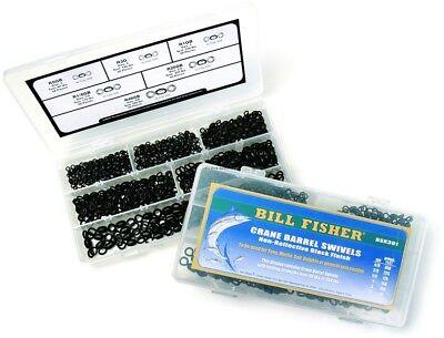 NEW Billfisher Stainless Crane Barrel Swivels Dull Black #5 200LB 1000Pk CS5B