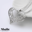 Collar-y-Colgante-Mujer-Corazon-Love-Amor-Oro-Plata-Joya-Moda-Regalo-ideal-Novia miniatura 3