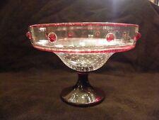 Coupe Bullée en Cristal St Louis Paul Nicolas Art Verrier Cabochons Rubis