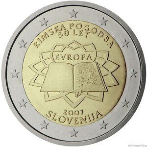 Slowenien 2007 25x 2 Euro Gedenkmünze 50 Jahre Römische Verträge