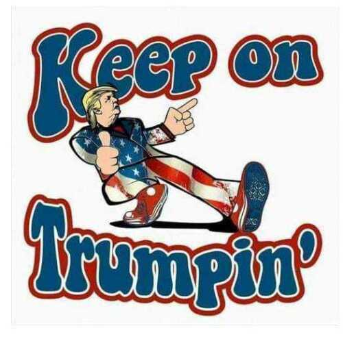 2 PACK  KEEP ON TRUMPIN DECAL BUMPER STICKER  TOP SELLER MADE IN USA