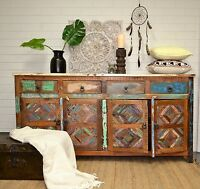 Recycled Timber Sideboard Storage Cabinet Buffet Distressed Country Industrial