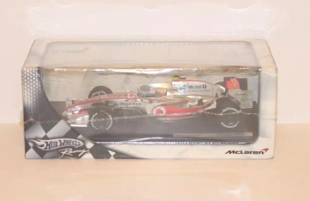 Hot wheels Mercedes Benz Mobil 1 McClaren MP4-22 Lewis Hamilton 1 18