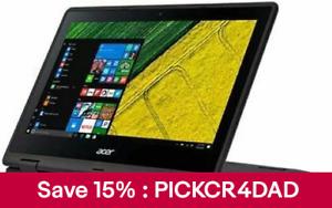 """Acer 11.6"""" CONVERTIBLE Laptop INTEL N4100 CPU 4G RAM 64G eMMc SP111-33-C0Y0"""