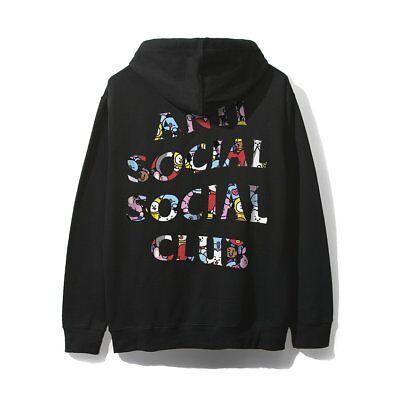 Anti Social Social Club ASSC X BT21 Collab Peekaboo White Hoodie Size S M L XL