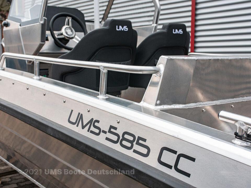 UMS 585 CC med 150 HK Yamaha påhængsmotor , Sty...