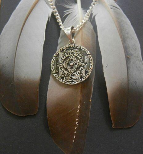 Geométrica Tribal Colgante Collar Vintage Tibetano Mandala Redondo Cadena Gratis
