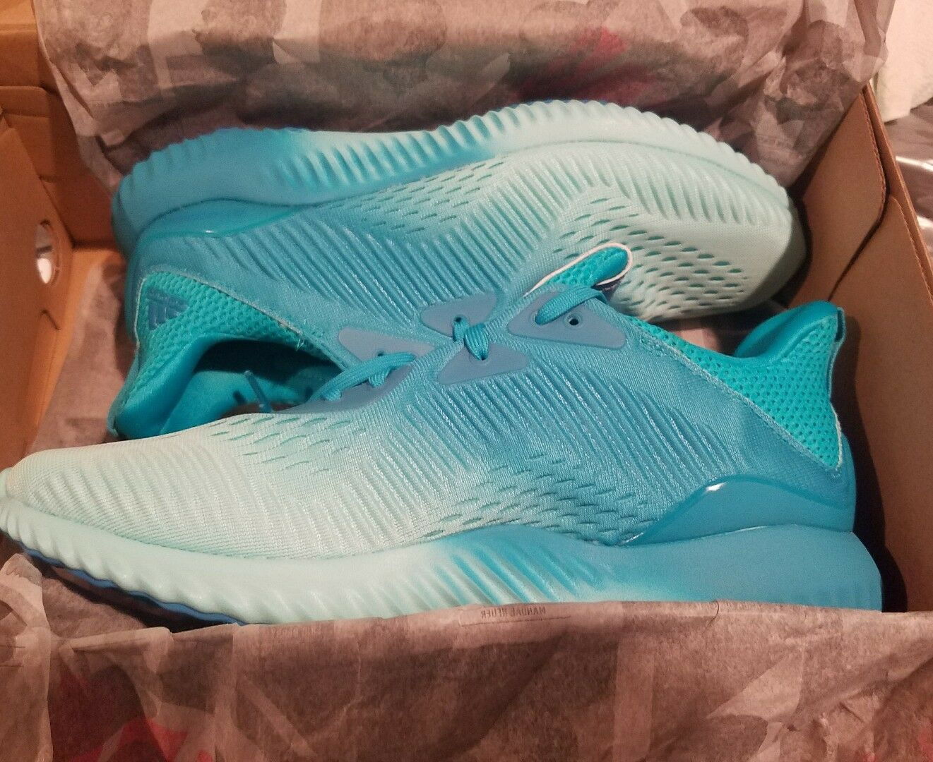 Adidas Women's AlphaBOUNCE EM W Running Shoe BW1199 Energy Blue Size 8 1/2