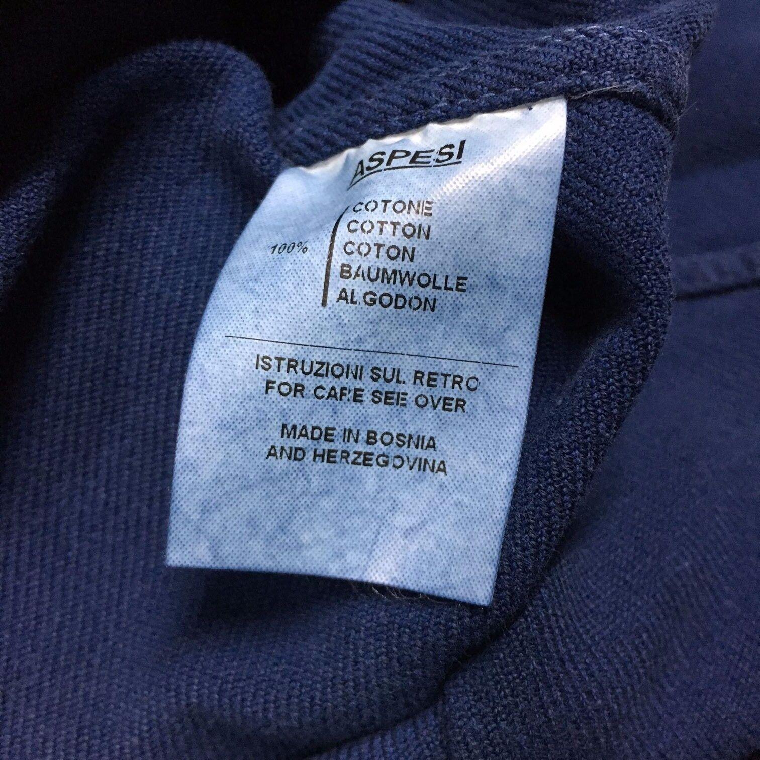 ASPESI Herrenhemd Indigo mod GASOLINA I6 A A A CE74 E742 100% Baumwolle 3b46d5