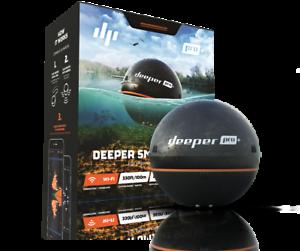 Deeper - Smart Sonar Pro+ (Wifi & GPS) Echolot Fischfinder Schwarz BRANDNEU