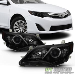 For Black Smoke 2012 2013 2014 Toyota Camry Headlights Headlamps