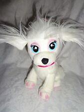 "2010 Mattel Barbie Saschi White Puppy Dog 9"" Plush Soft Toy Stuffed Animal"