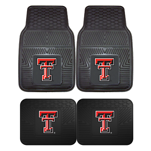 Texas-Tech-University-2pc-amp-4pc-Mat-Sets-Heavy-Duty-Cars-Trucks-SUVs