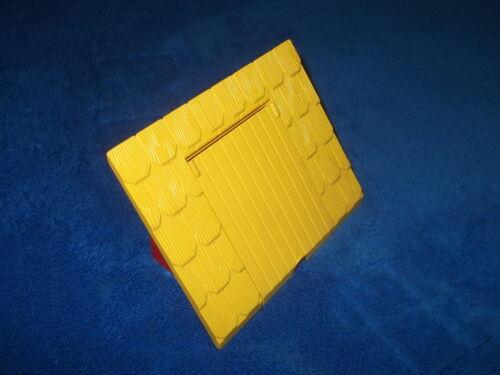 Lego Duplo Gebäude Dach 8 x 4 x 4 rot gelb Klappe Haus Scheune Set 1040 4812c01