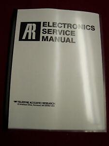 acoustic research electronics service manual ar amp au receiver rh ebay com electronics repair service manual electronic service manuals free