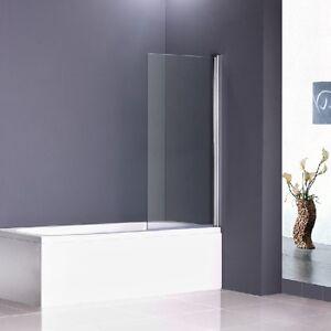 Aica Chrome 180 176 Pivot Bath Shower Screen 800x1500mm Glass