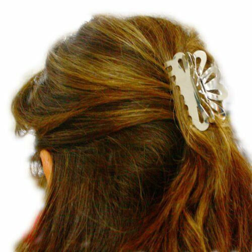 Solid 925 Silver hair claw clip 33mm X 63mm.