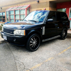 "2006 RANGE ROVER SUPERCHARGED SAFETY PASSED 24"" INCH LEXANI RIMS"