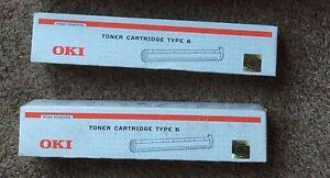 2-off-Genuine-OKI-Toner-Cartridge-Type-6-brand-new-in-boxes