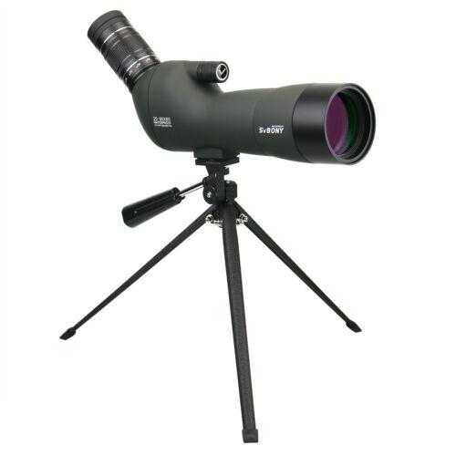 Spotting Scope SVBONY 20-60x60 Waterproof Angled BAK4 Zoom FMC Telescopes UK