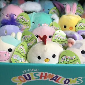 """3 BRAND NEW 5"""" Squishmallow Easter 2021 Assorted SURPRISE Designs [Lot of 3] NWT"""