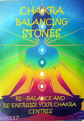 Natural Crystal Chakra Set Healing Gemstone Reiki Gridding Chart 7 Natural Stone