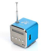 Mini Lautsprecher LCD Stereo Speaker Mp3 FM Radio Musik Player USB Micro SD TF