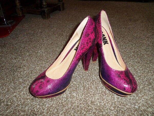 Bank High Animal Printed Platform Pump High Bank Heels Shoes Size 4 deceb8
