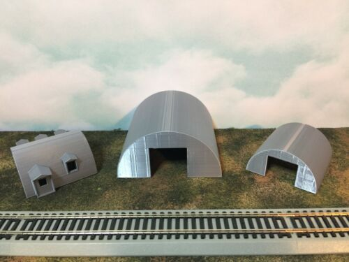 1:87 Military or Farm Cluster HO Scale QUONSET OFFICE Building Built Up