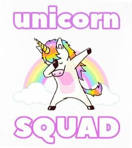 Details about *****UNICORN SQUAD  HORSE************************FABRIC/T-SHIRT IRON ON TRANSFER