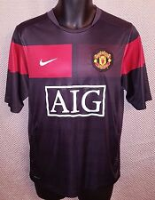 Manchester United FC Black & Red Training Jersey 2009/10 EUC - Mens Small