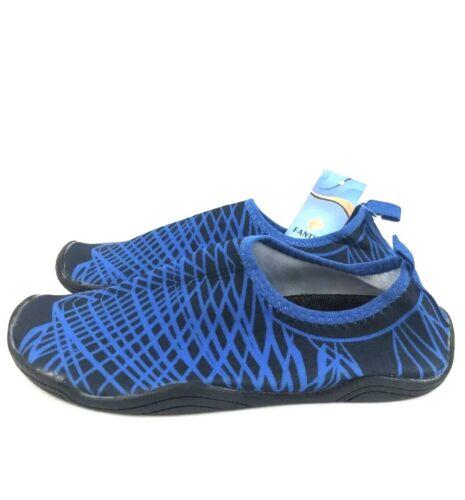 Fantiny Water Shoes Blue// Black Pattern Size Men's 10.5// Women's 12.5