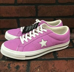 Details about Converse One Star OX Fuchsia Glow Shoes Men's Size 9 Women's Size 11