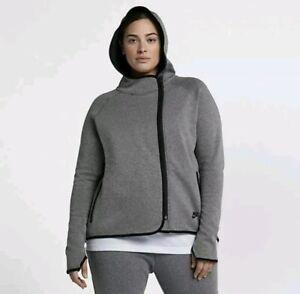 Nike Sportswear Womens Tech Fleece Crew Medium Olive
