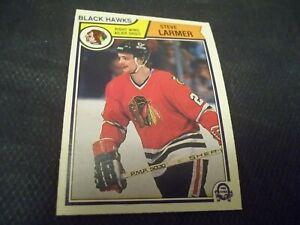 1983-84-OPC-O-Pee-Chee-105-Steve-Larmer-Rookie-Black-Hawks-mint