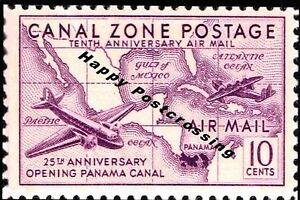 PACK-of-3-New-Happy-Postcrossing-Postcards-US-Air-Mail-Canal-Zone-Postage-S82