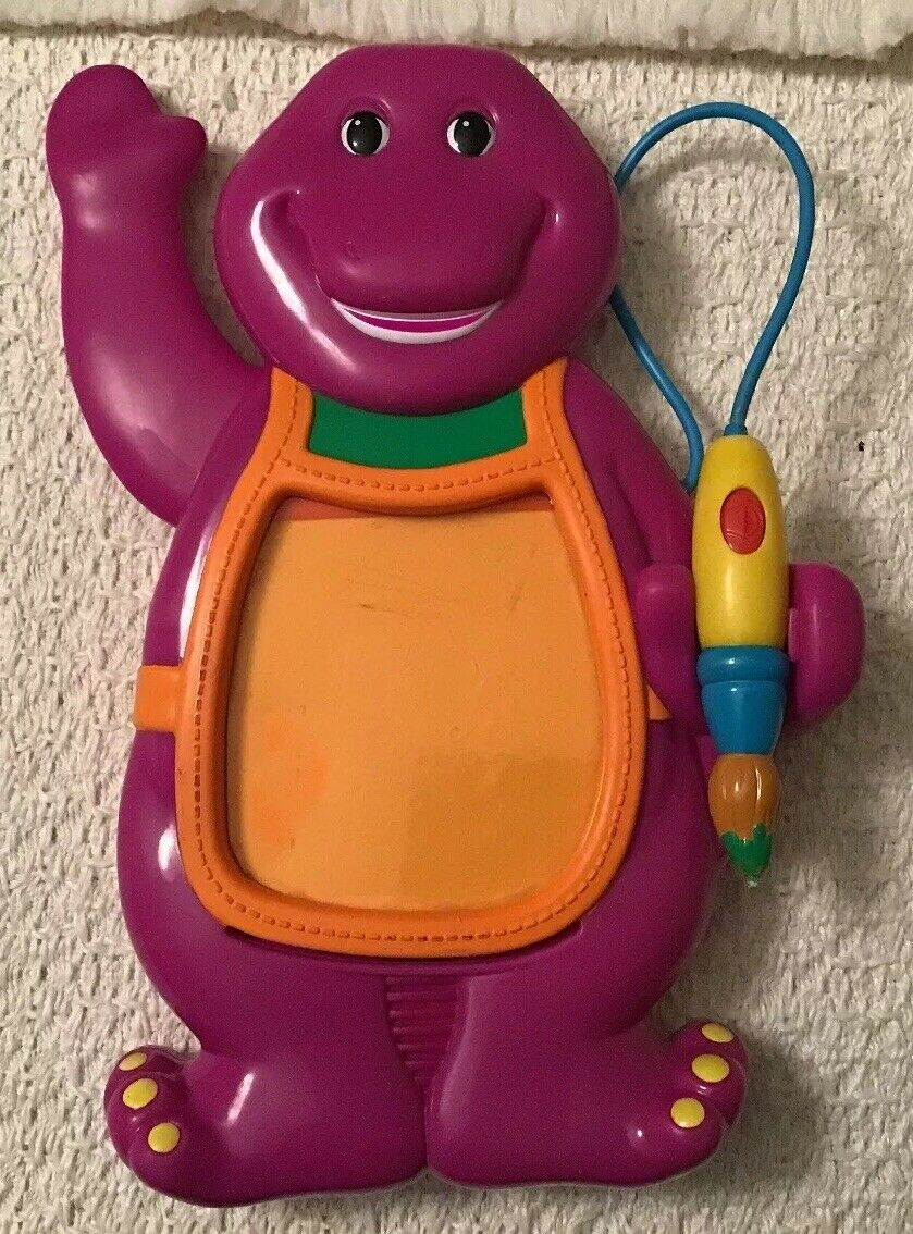 BARNEY THE THE THE DINOSAUR Drawing Board Toy - Mattel, RARE, Read All Descriptions    d06b63