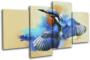 Abstract-Bird-Kingfisher-Animals-MULTI-LONA-pared-arte-Foto-impresion